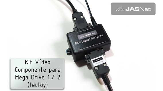 Kit Video Componente Para Mega Drive 1/2 (jasnet)