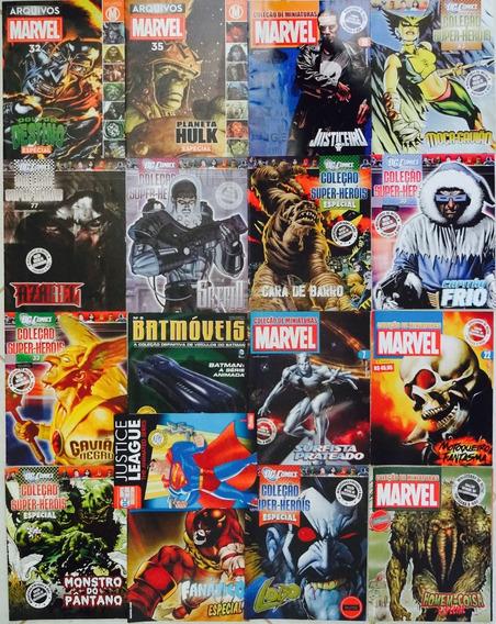 Lote Marvel Dc Eaglemoss Super-heróis Miniaturas Arquivos