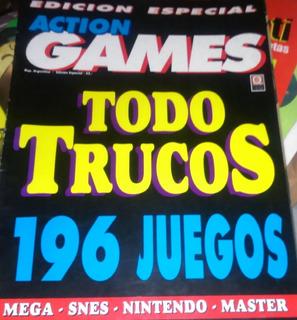 Revista Action Games Edicion Especial Todo Trucos 196 Juegos