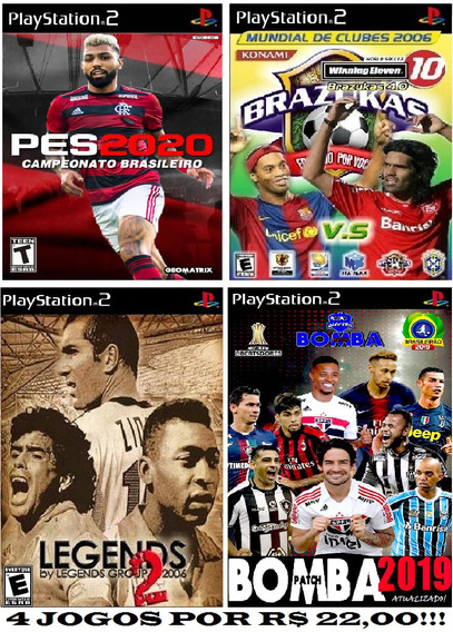 Kit De 4 Jogos Bomba Patch Para Playstation 2