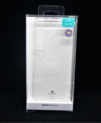 Imagen 1 de 3 de Funda Galaxy A7 2018 Goospery Transparente Jelly Case