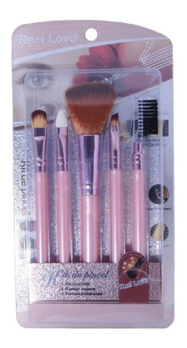 Imagem 1 de 1 de Kit Com 5 Pinceis Para Maquiagem - Real Love 611pin42