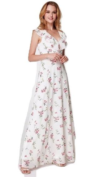 Vestido De Mujer Flores Largo Delicado
