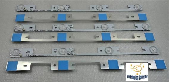 Kit 6 Barra De Led Tv Toshiba 40l2400/3944/45 Aluminio Nova