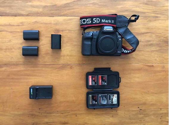 Camera Canon 5d Mark Ii + Cartoes Compact Flash + Baterias