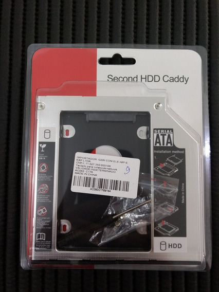 Adaptador Caddy Hd Ou Ssd Sata Notebook Drive Cd\dvd 12,7mm