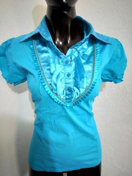 Camisa Azul Turquesa Talla M Lucy Paris
