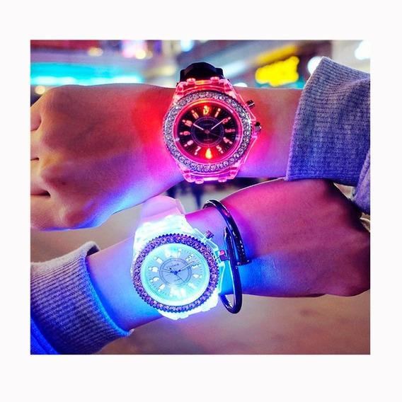 10 Relojes Luminoso Led Rgb Regalo Luces Geneva Con Envío