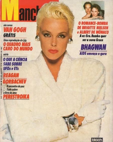 Manchete 1987 Van Gogh Rita Pavone Chicago Osho Madonna