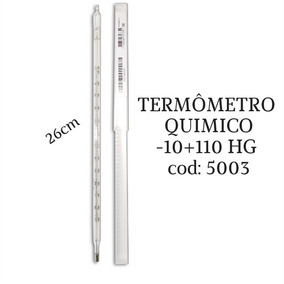 Termômetro Químico Escala Interna -10+110:1°c 26cm Incoterm