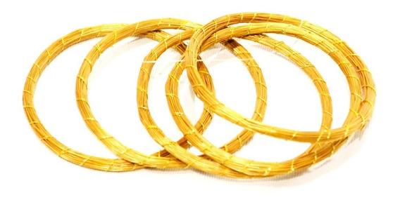 Pulseira De Capim Dourado Jalapão Delicada Fina 7cm