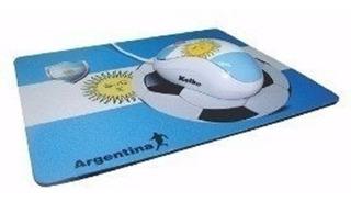 Kit Mouse Pad Optico Argentina 800dpi Usb 2019 Oferta!!!
