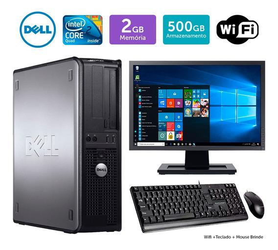 Pc Usado Dell Optiplex 780int C2quad 2gb 500gb Mon19w Brinde