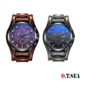 2 Relógio Masculino Bracelete Social Luxuoso Modelo 1032b