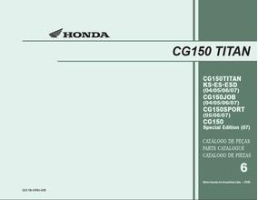 Catalogo De Peças Cg 150 Titan 2004 2005 2006 2007 (pdf)
