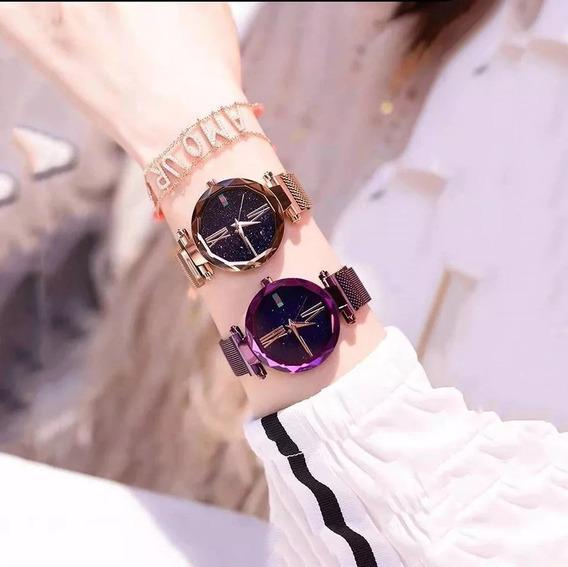 Relógio Feminino De Luxo Céu Estrelado Correia Magnética Sky