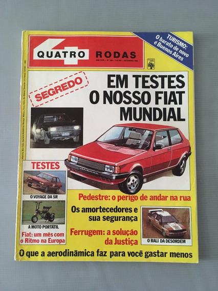 Revista Quatro Rodas - Agosto 1983 - Nº 277 Escort Chevette