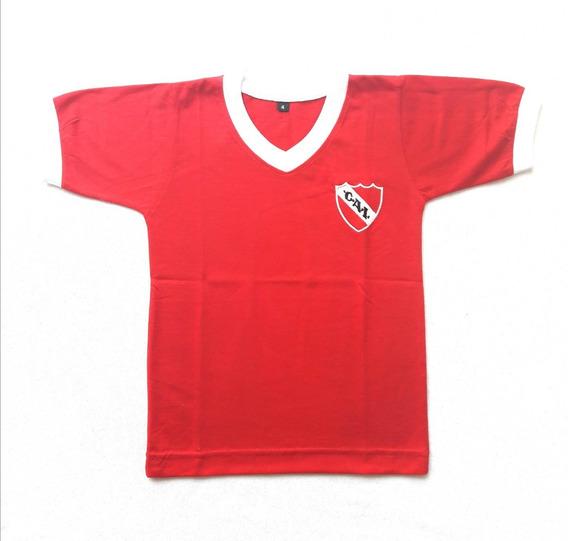 Remera De Independiente Para Niños Entrenamiento Camiseta Algodon Talle 2 Al 16