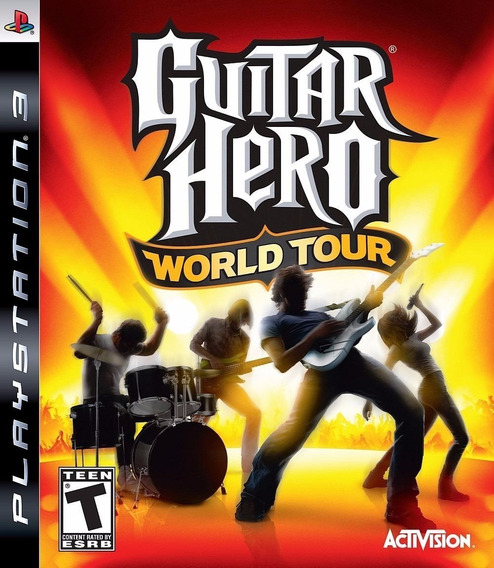 Jogo Playstation 3 Guitar Hero World Tour Ps3 Usado