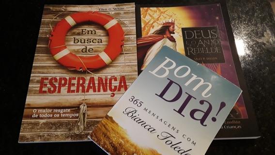 Livros Deus E O Anjo Rebelde + Esperança + Bom Dia Kit C/ 3