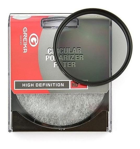 Filtro Polarizador Circular Greika 49mm - Garantia Novo