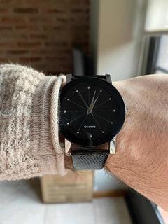 Relojes Quartz Cuero Negro Garantia