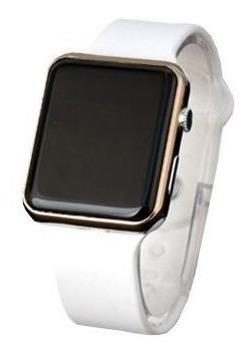 Relógio De Pulso Digital Led Masculino Feminino Branco Rose