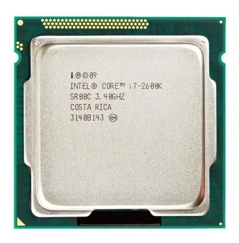 Imagem 1 de 1 de Processador gamer Intel Core i7-2600K CM8062300833908 de 4 núcleos e 3.4GHz de frequência com gráfica integrada