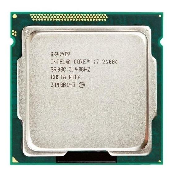 Processador Intel Core i7-2600K CM8062300833908 de 2 núcleos e 3.4GHz de frequência com gráfica integrada