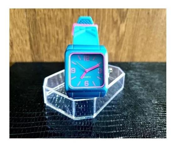 Relógio Azul Feminino Silicone Colorido Promoção!!!!