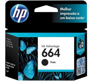Hp Cartucho De Tinta Original 664 Negro Cuotas