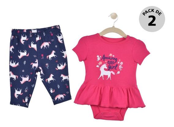 Set 2 Pzas Pañalero Y Pants Carters Multicolor Niña 15956210