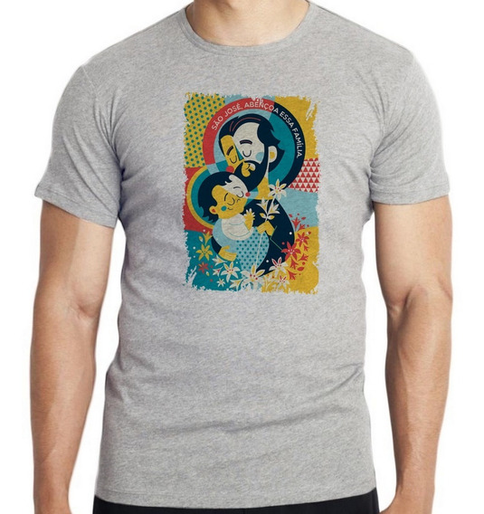 Camiseta Infantil Kids São José Santo Igreja Católica Religi
