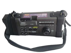Caixa Lanterna Led Radio Fm Bivolt Recarregável P2 Wireless.