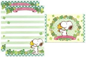 Lote 10 Conjuntos Papel Papéis De Carta Importados Snoopy 2