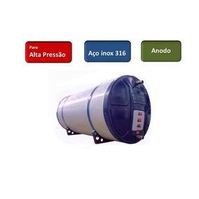 Boiler Alta Pressão Solar Ou Elétrico Inox 316 Anodo 1020 L