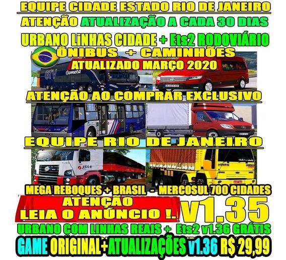 Euro Truck Simulator 2 Duo Bus Caminhões Mega Mapa Mercosul