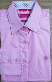 Kit 6 Camisa Feminina Slim Fit Em Algodão