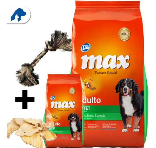 Imagen 1 de 4 de Max Buffet 20 +2kg + Snacks + Regalo + Envío. Comida Perros