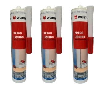 3 Prego Líquido Adesivo Selante Extra Forte 310ml Wurth