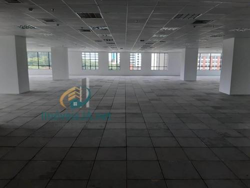 Laje Comercial Locação West Side Com 560 M²,conceito Open Space, Com Piso Elevado, Forro, Luminárias, Ar Condicionado D - 816