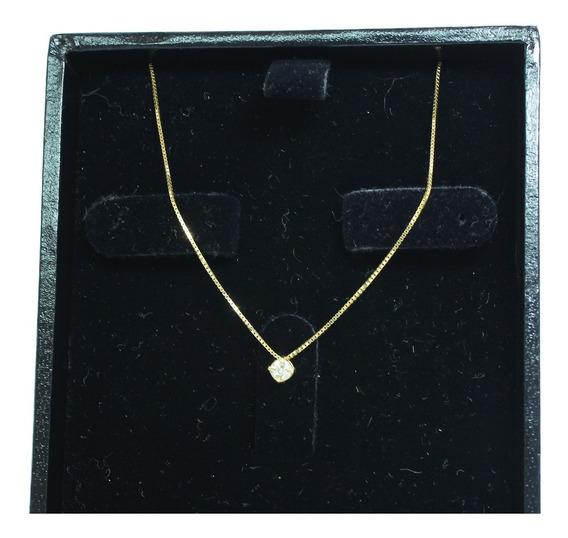 Pocao2005- Colar De Ouro 18k750 Diamante 12x S/j Ft/gt C368