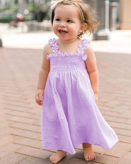 Vestido Sin Mangas Con Correa Para Niños Niñas Vestido Sue