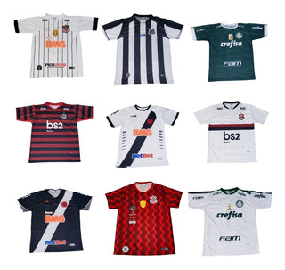 Kit 10 Camisas De Time Futebol 2019/2020 Atacado