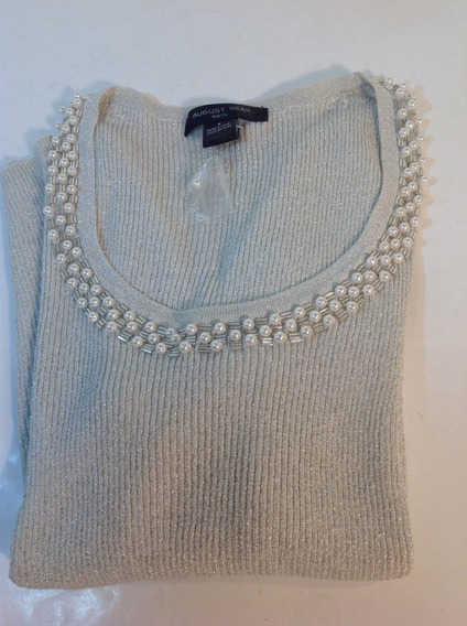 Sweater Dama Color Plateado