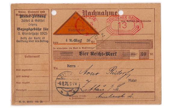 Alemania Antigua Tarjeta De Giro Reembolso Año 1925
