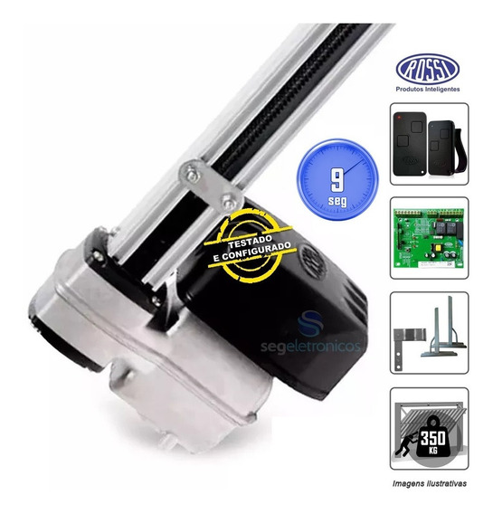 Motor Bv Nano Rossi Basculante 1/4hp 1500mm Portão Original