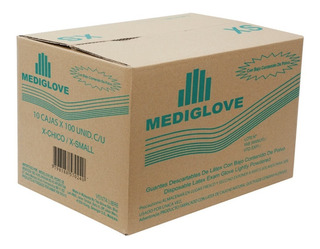 Guantes De Látex Natural Examen (10x100 Un) - Mediglove