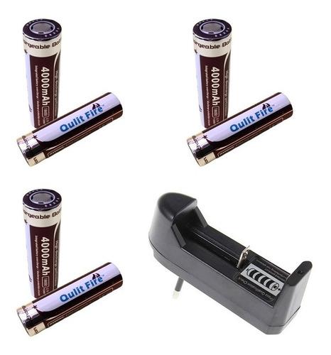 6 Baterias Litio 3.7 V. 6800 Mah + Cargador A 220 Volt