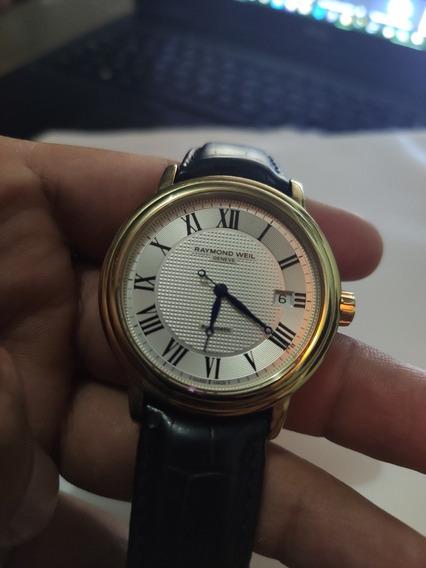Reloj Raymond Weil Maestro Oro, Cuero Negro